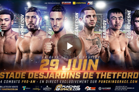 Boxing Under the Stars – Thetford mines 29 06 2019